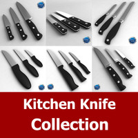 kitchen knife 3d 3ds