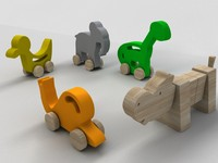 wooden toy - 3d 3ds