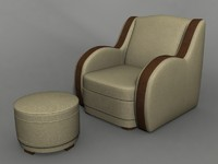armchair set 3d max