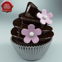 chocolate cupcake 3d max