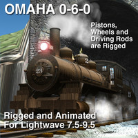 OMAHA 0-6-0 Rigged and Animated update Lightwave version 7.5-8.5 and 9.5