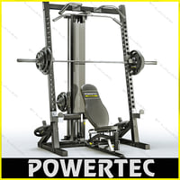 powertec wb-hr10 workbench half 3d model