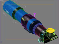 stellarvue ed telescopes scope 3d model