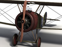 sopwith camel f 1 3d model