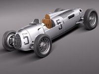 3d autounion auto union type model