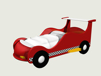 racing car bed lwo
