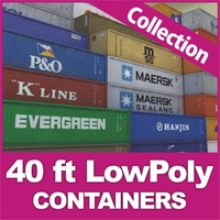 cargo 40 ft container 20 3ds
