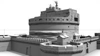 castel castle monument 3d model