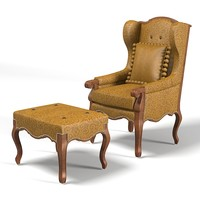 3d model chair armchair hendrix