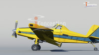 3d crop duster airplane