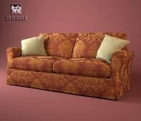 3d sofa busnelli silver