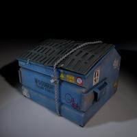 3d model of dumpster