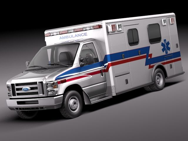 E Series E 450 Ambulance Vehicle 3d Model