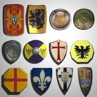Medieval Shields (low poly)