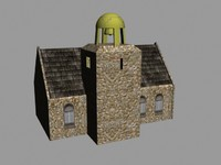 3d old church model