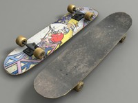 skateboard modeled deck 3d model