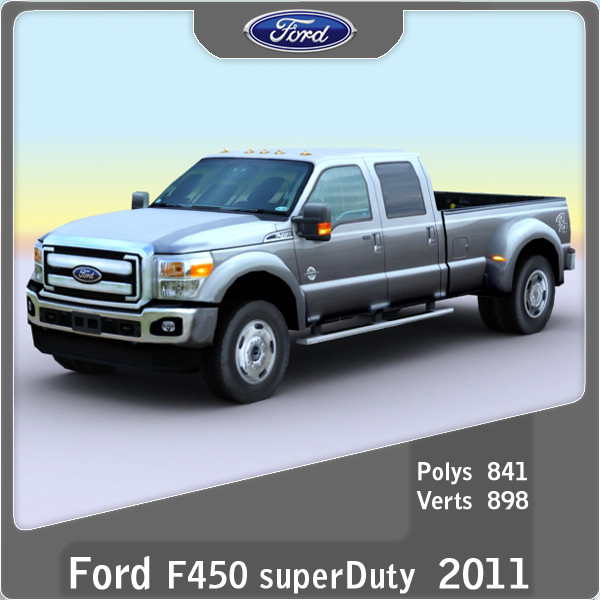 Autodesk Ford F450 3d Model