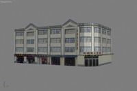 3d asia building city model