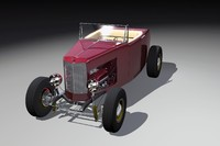 highboy hot rod 3d model