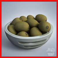 3d kiwis bowl design -