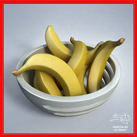 bananas bowl design - 3d max