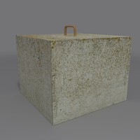 3d model of concrete block coz080914031