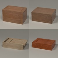 wooden boxes 3d 3ds