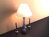 lampshade candle 3d max