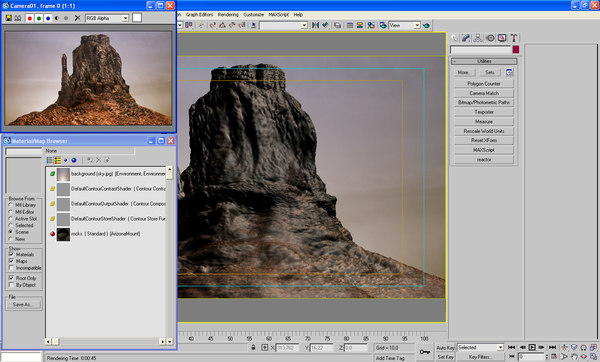 3dsmax mountain bump envirenment - Arizona Mountain... by POPA_3D