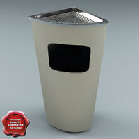 3ds max ashtray bin v3