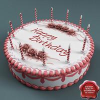 birthday cake 3d model