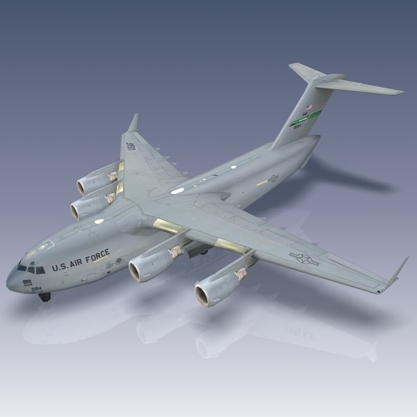 3ds c-17 globemaster transport usaf - USAF C-17 Globemaster III... by Bounding Box