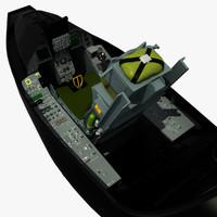 3d model f-16 cockpit