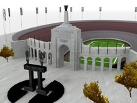 3d model of los angeles coliseum