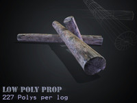 Low poly-  HD Log Model.