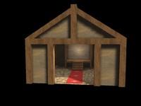 3d model viking town b3d