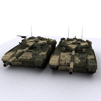 3ds max t-80u t80 battle tank