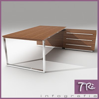 3d office table aplomb model