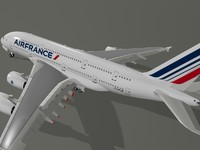 airbus a380-800 air france 3d 3ds