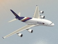 3d dxf airbus a380-800 thai airways