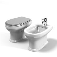 classic toilet bidet 3d model