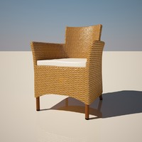 lowpoligonal wattled furniture 3d model