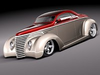 1937 coupe antique streetrod 3d 3ds