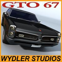 pontiac gto 67 3d model