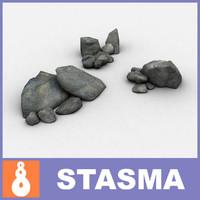 stones group 3d model