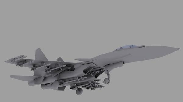 3ds max su 37 su fighter
