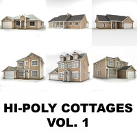 maya hi-poly cottages vol 1