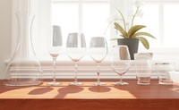 Glass, Wineglass and carafe