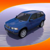 3d max bmw x5 car