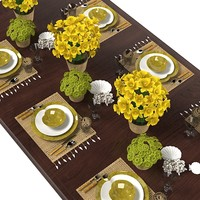 Floral Table Serving